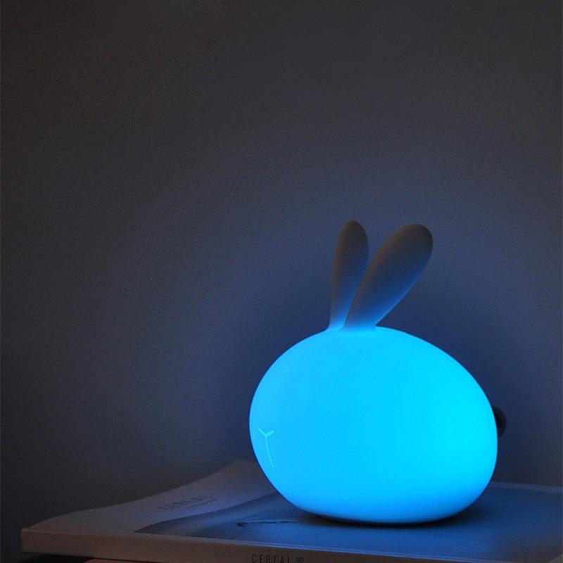 Cute Rabbit Animal Night Light DC 5v 0.15w 7 Changeable Color 3 Dimable Brightness 310g Energy-Saving Desk LightCute Rabbit Animal Night Light DC 5v 0.15w 7 Changeable Color 3 Dimable Brightness 310g Energy-Saving Desk Light