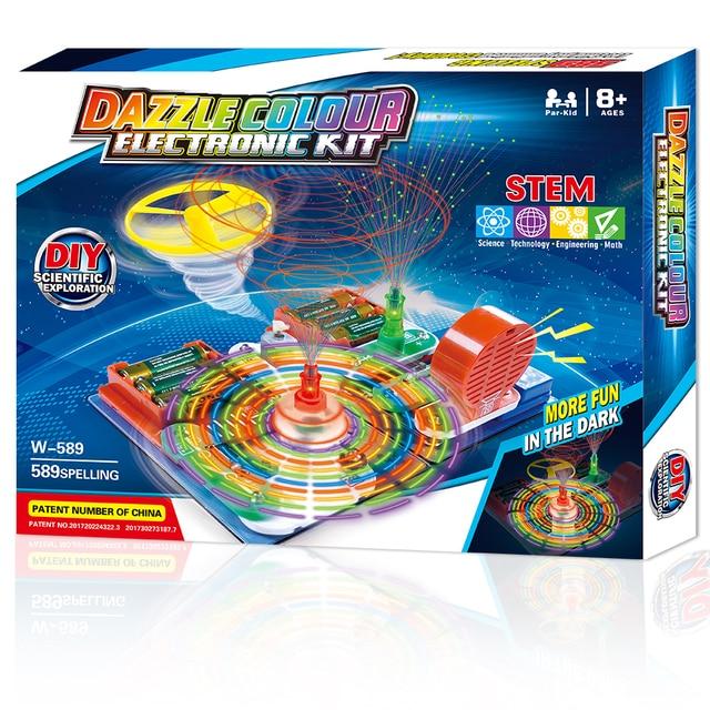 Juguetes ducacionales integrados para niños 54 juego súper científico Física Ciencia juguete máquinas de aprendizaje niños tabletas educativos