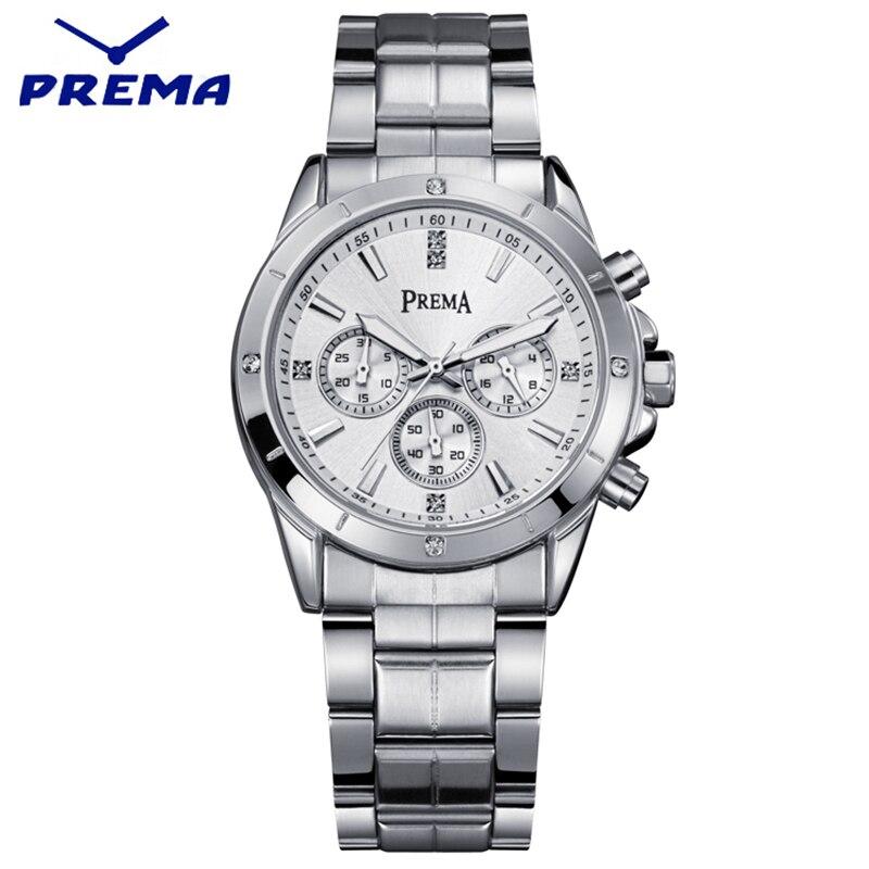 ФОТО PREMA Fashion Diamond Men Watches Water Resistant Male Clock Men Full Steel Watch Quartz Business Black Watches For Men Relojes