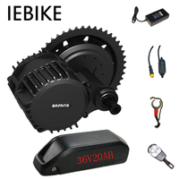 Bafang 36V 500W Electric Mid Motor Set Ebike Electric Bicycle Conversion Kit with 36V20AH Battery DIY Electric Bike Engine Kit