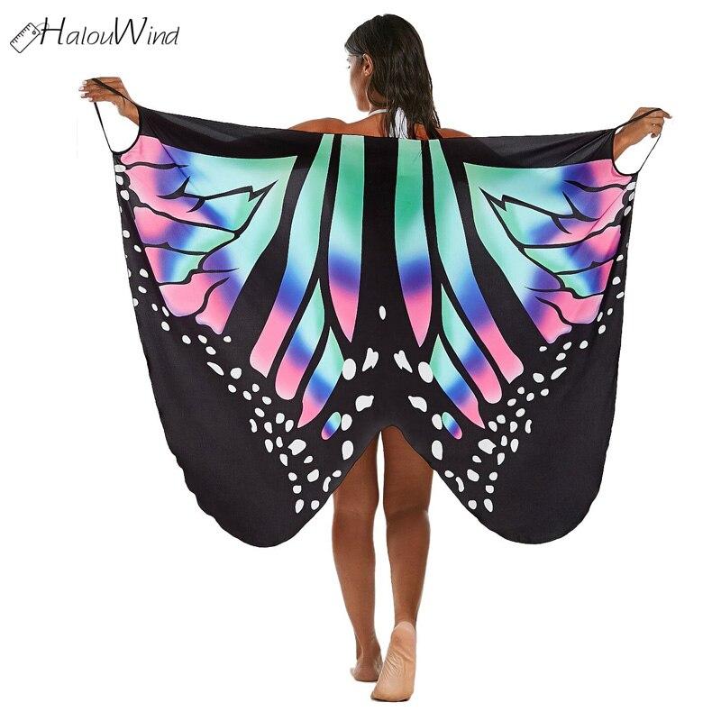 91d484a57ce5 Boho Sexy Women Beach Cover Dress Up Multifunction Summer New Beachwear  Tunics Butterfly Sleeveless Long Wrap Vestido Robe Femme-in Dresses from  Women s ...