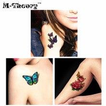 M Theory 3D Temporary Tattoos Body Art Super Lifelike Flash Tatoos Sticker 19 9cm Bikini Swimsuit