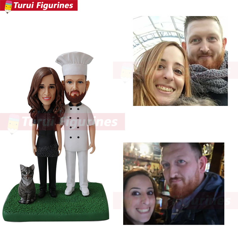 Custom Chef Bobblehead From Photo To Figurines With Dog Customized Dog Figurines Miniatures China Bobblehead Manufacture