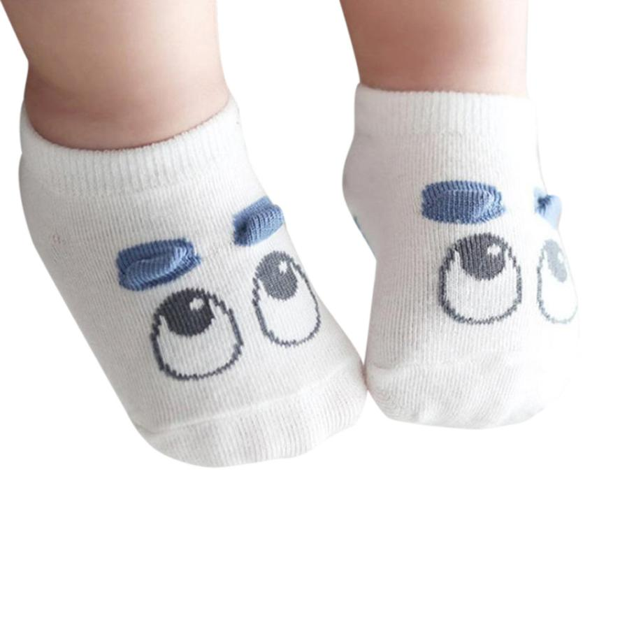 Woweile # 5006   Baby Infant Socks Newborn Cotton Boys Girls Cute Cartoon Toddler Anti-slip Socks