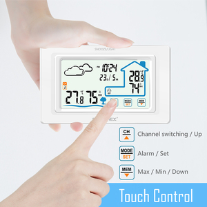 Image 2 - Protmex PT19A Color Touch Screen Weather Station Sensor Thermometer Hygrometer Meter Digital Forecast Sensor Indoor Outdoor Home