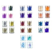 31 Style Chunky Nail Sequin 10ml False Sequins Paillette 1Box Mix Colorful Flakes Glitter Decorations For Art#