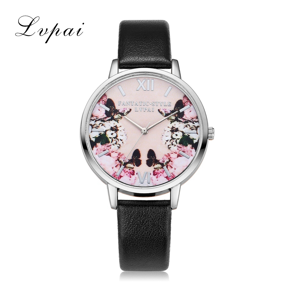 Lvpai luksusa ādas sieviešu kleita pulksteņi rokas pulkstenis - Sieviešu pulksteņi - Foto 6