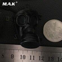 1/6 World War II Black Color Pig Nose Gas Mask For 12'' Male & Female Head Model