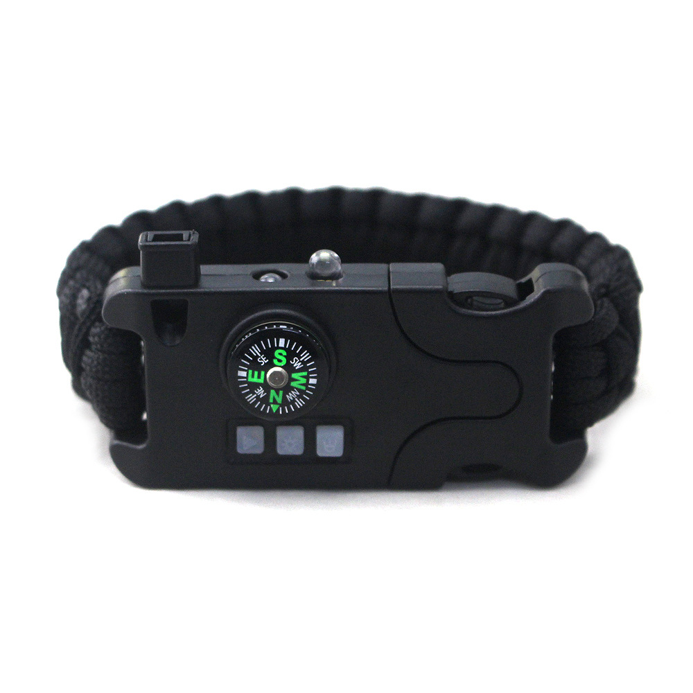 Outdoor Multifunctional Survival Bracelet Camping Infrared SOS LED Light Flashlight Rope Hilking Safety Universally Bracelet