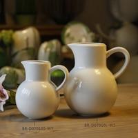 Blanco Café Olla de Gran Tamaño y Tamaño Pequeño para Un Pueblo o a Dos O Tres Personas Vasos Decorativos para la Cocina o de Vida habitación