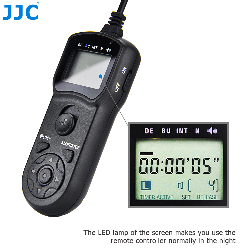JJC Multi-Function Release Controller Timer Remote Shutter Cord for Canon EOS1Ds Mark III/5D Mark IV/-1D X Mark II/7D MARK II tc c3 1 1 lcd camera timer remote controller for canon eos 1ds mark ii more