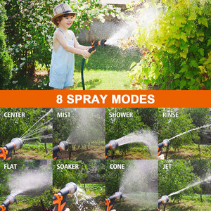 Image 5 - Garden Watering System Hose Nozzle Watering Spray High Pressure Water Sprinkler With 8 Watering Function No Leakage Hose Nozzle