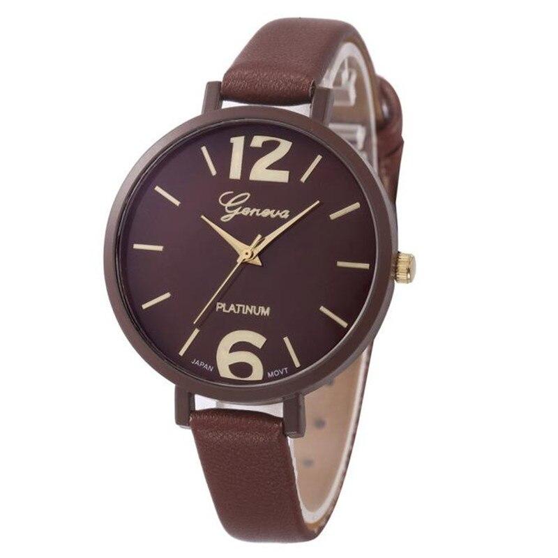 10 Colors Women Bracelet Watch Geneva Famous brand Ladies Faux Leather Analog Quartz Wrist Watch Clock Women relojes mujer
