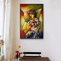 100% pintado a Mano pintura al óleo sobre lienzo artista Famoso Picasso pintura abstracta mujer hermosa del arte de la pared decoración imagen
