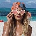 Cat Eye Vintage Big Sunglasses Half Frame Retro 50S Brand Designer 2016 New Women Sun glasses Shades Beach Elegant Female
