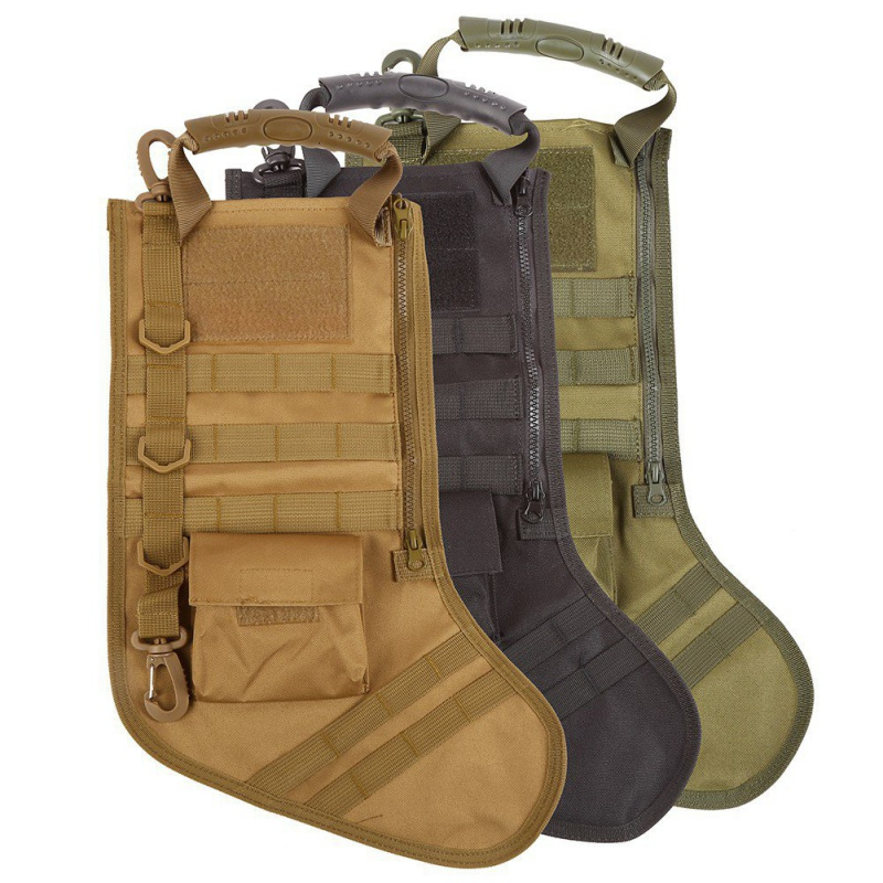 Outdoor New Tactical Molle Christmas Stocking Bag Dump Drop Pouch Utility Storage Bag Military Combat Hunting Magazine Pouches military molle admin front vest ammo storage pouch magazine utility belt waist bag for hunting shooting paintball cf game