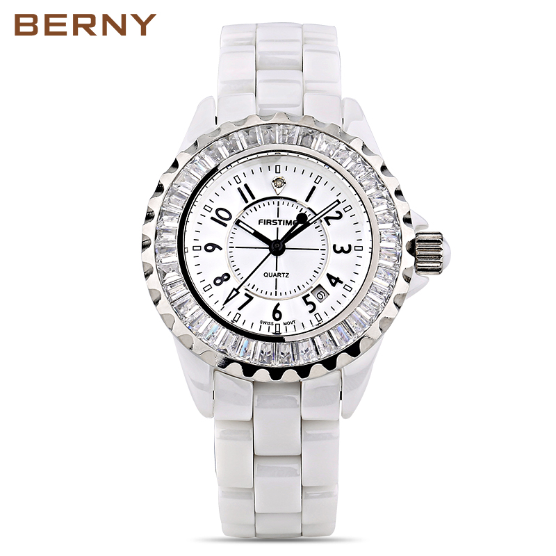 Berny Women Watch Quartz Lady Watches Fashion Top Brand Luxury Relogio Saat Montre Horloge Feminino Bayan Femme JAPAN MOVEMENT aluminum wall mounted square antique brass bath towel rack active bathroom towel holder double towel shelf bathroom accessories