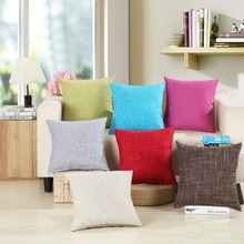 Double-sided decorative pillowcase solid color cotton and linen simple fashion sofa home pillow