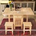 Praça Coners café mesa de jantar com duas cadeiras ( sem gavetas ) Material de madeira sólida mobília da sala E1 saúde verde