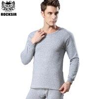 Dikker Plus Fluwelen Lange John voor Mannen Hemdjes Pyjama Hot Koop Winter Warm Lange Onderbroek O-hals Thermisch Ondergoed Sets