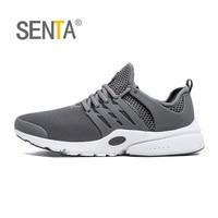 SENTA 2017 Men S Running Shoe Breathable Women Light Walking Jogging Sneakers Gray Black Mesh Sport