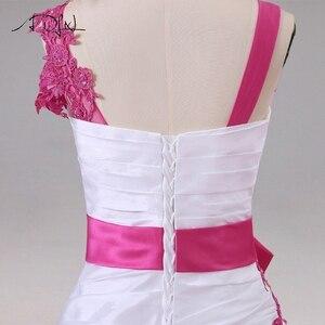 Image 5 - Jiayigong 새로운 도착 웨딩 드레스 민소매 페르시 아플리케 a 라인 tulle과 Taffeta 웨딩 드레스 신부 드레스