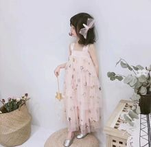 2019 INS HOT MOTHER AND DAUGHTER MATCHING VESTIDOS YARN DRESSES FOR GIRLS KIDS SUMMER CLOTHING