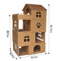 Luxury cat furniture scratching posts cat condos play house cat scratcher play castle carboard tree tower home dropshipping