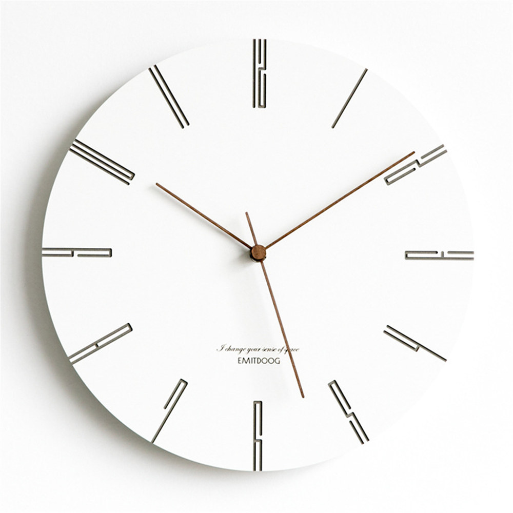 Modern Pine Wood Wall Clock Nordic Chic Round European Minimalist Superior Graceful Artistic Silently Clock for Cafe Home DecorModern Pine Wood Wall Clock Nordic Chic Round European Minimalist Superior Graceful Artistic Silently Clock for Cafe Home Decor