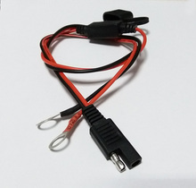 1Pcs SAE Plug to O Type Terminal Quick Connector 10A/2468/18AWG Copper Cord DIY Power Cable for Booster Car Battery Jump Starter цена