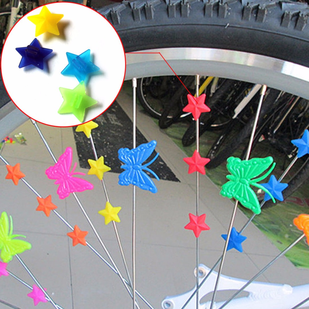 Colorful Plastic Bicycle Wheel Spoke Beads  Kids Bike Bicycle Decor Spoke Clip