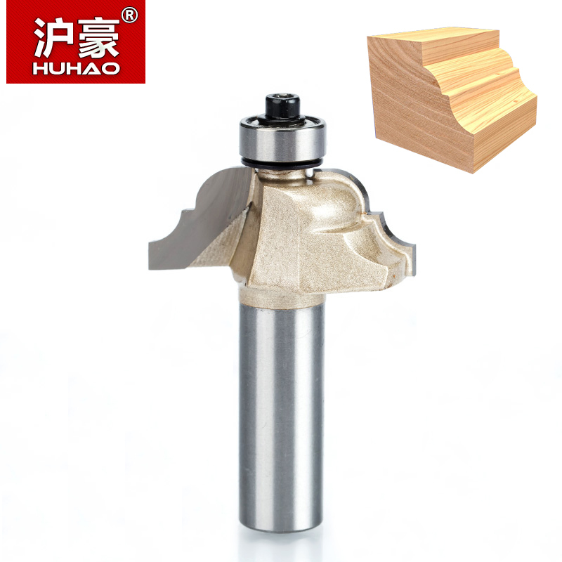 HUHAO 1pcs 1/2 Shank Roman Ogee Router Bit Double Edging Router Bits for wood Woodworking Tools endmill classical bit cutter free shipping 10pcs 6x25mm one flute spiral cutter cnc router bits engraving tool bits cutting tools wood router bits