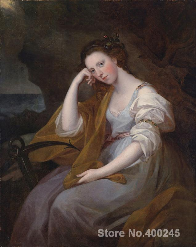 Famous Portrait Angelica Kauffman Portrait of Louisa Leveson Gower as Spes oil Painting canvas High quality Hand paintedFamous Portrait Angelica Kauffman Portrait of Louisa Leveson Gower as Spes oil Painting canvas High quality Hand painted