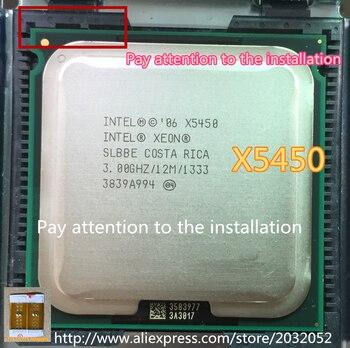 Oryginalny procesor intel Xeon X5450 3.0GHz/12M/1333 w pobliżu procesora LGA771 Core 2 Quad Q9650 (daj dwa adaptery 771 do 775)