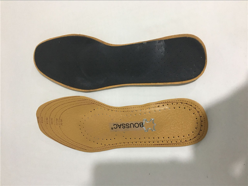 BOUSSAC NTL 212-227 Unisex Leather Silicone Orthotics Insole for Flat Foot Arch Support Shockproof Release Moisture Insoles