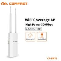 Comfast 새로운 2.4g 500 mw 2 * 5dbi 외부 안테나 wifi 기지국 옥외 hight 힘 wi fi 적용 ap 반복기 CF EW71 무선 라우터    -
