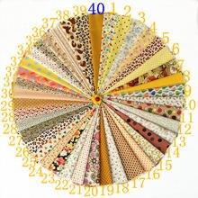 Лоскутные материалы для шитья из желтой ткани скрапбукинга tissu