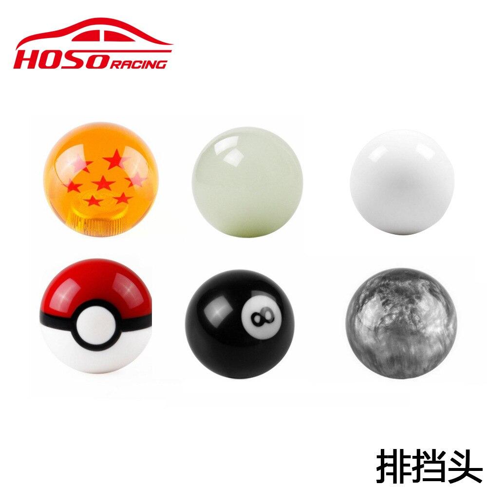 Hot sale car Dragon ball Gear Shift Knob Racing Stick Cool Acrylic for universal 5