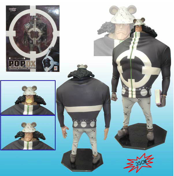 35cm Bartholemew Kuma One Piece Anime Collectible Action Figures PVC Collection toys for christmas gift classic anime 25cm one piece pop blackbeard edward teach anime collectible action figures pvc collection toys christmas gift