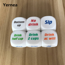 5Pcs/Lot 25mm Dice Acrylic Rounded Corners Hexahedron Colour English Font Originality Drinkers Wager Game Yernea