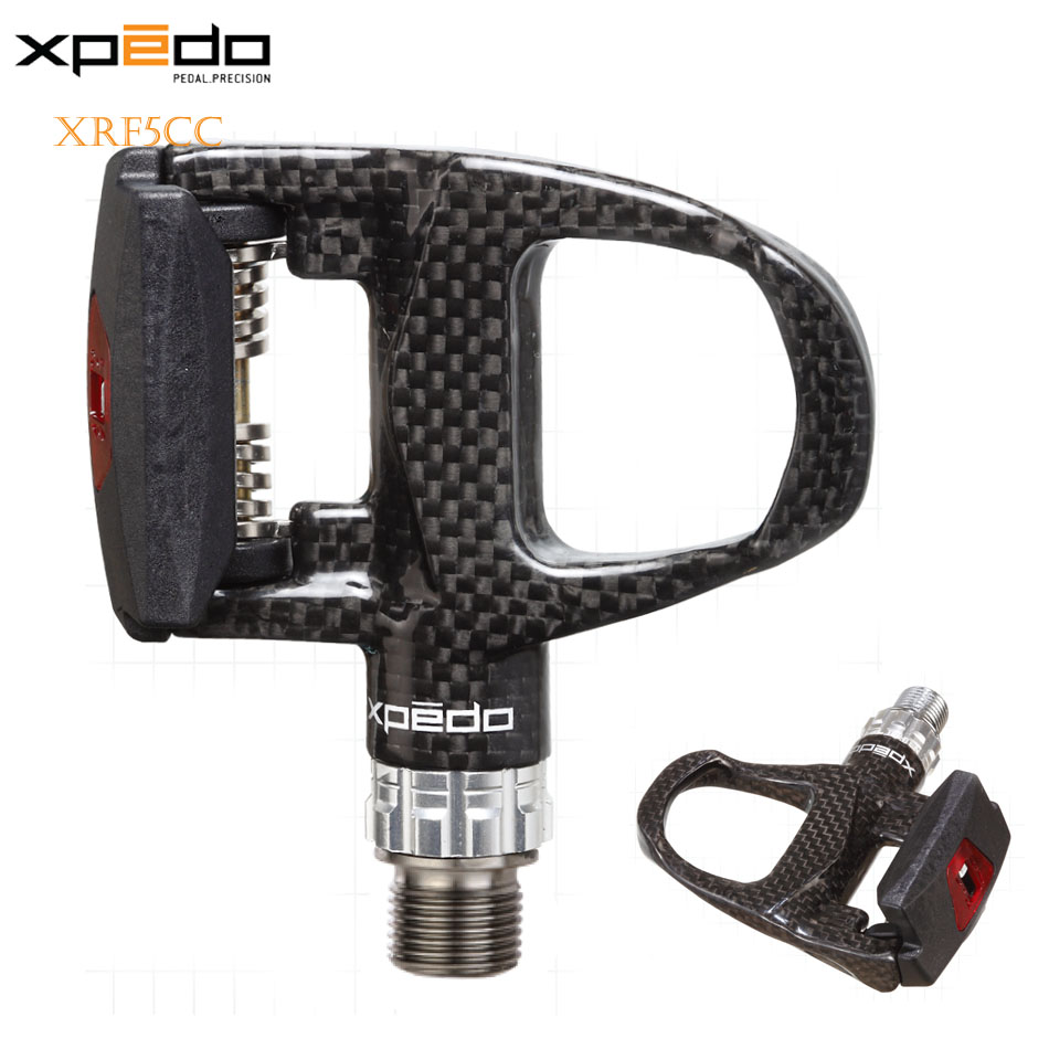 Wellgo Xpedo XRF5CC Carbon Fiber and Magnesium Alloy Ultra Light Clipless MTB Mountain Bike Road Bike Pedals Bicycle Pedals  цена и фото