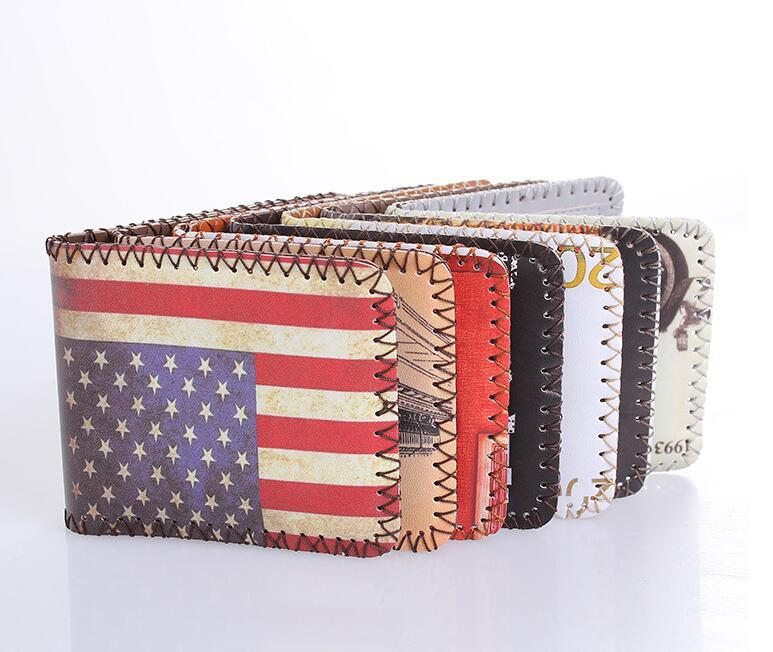 2018 Hot Sales Creative USA UK flag Design Short Style Men Wallet Fashion  Woman Wallet Cartoon Coin Bag Change Purse Carteira-in Wallets from Luggage    Bags ... 094adaa8ef65