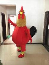 Chicken Mascot Adult Size Cartoon Character Cock Costume Halloween Fancy Dress Christmas Cosplay for Party Event