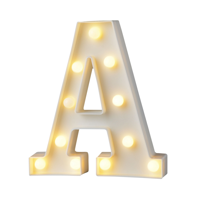 Luzes da Noite plástico branco carta alfabeto sinal Formato : Letter