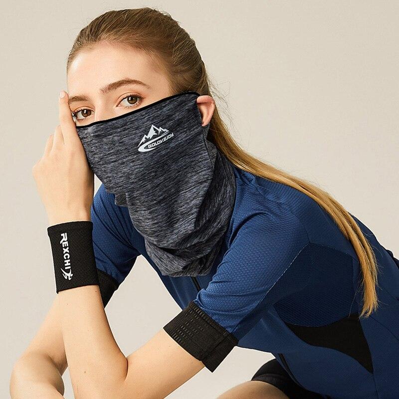 Ice Silk Half Face Mask Summer Windproof Dustproof Sunscreen Breathable Neck Scarf Men Women Outdoor Masks Magic Headband RR7176