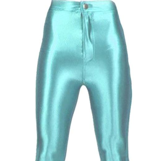 f5ec10fda1468 Women's Shiny Disco Pants Large Teal Blue-in Leggings from Women's ...