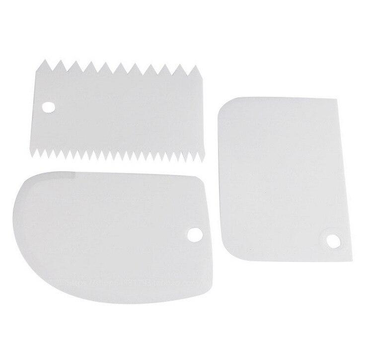 3Pc-Baking-Pastry-Tools-Plastic-Dough-Knife-Icing-Fondant-Scraper-Decorating-Plain-Smooth-Jagged-Edge-Spatulas