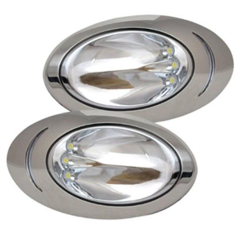 1 paire 12 V Marine bateau LED Navigation lumière en acier inoxydable haute luminosité lampe de recherche de l'itc