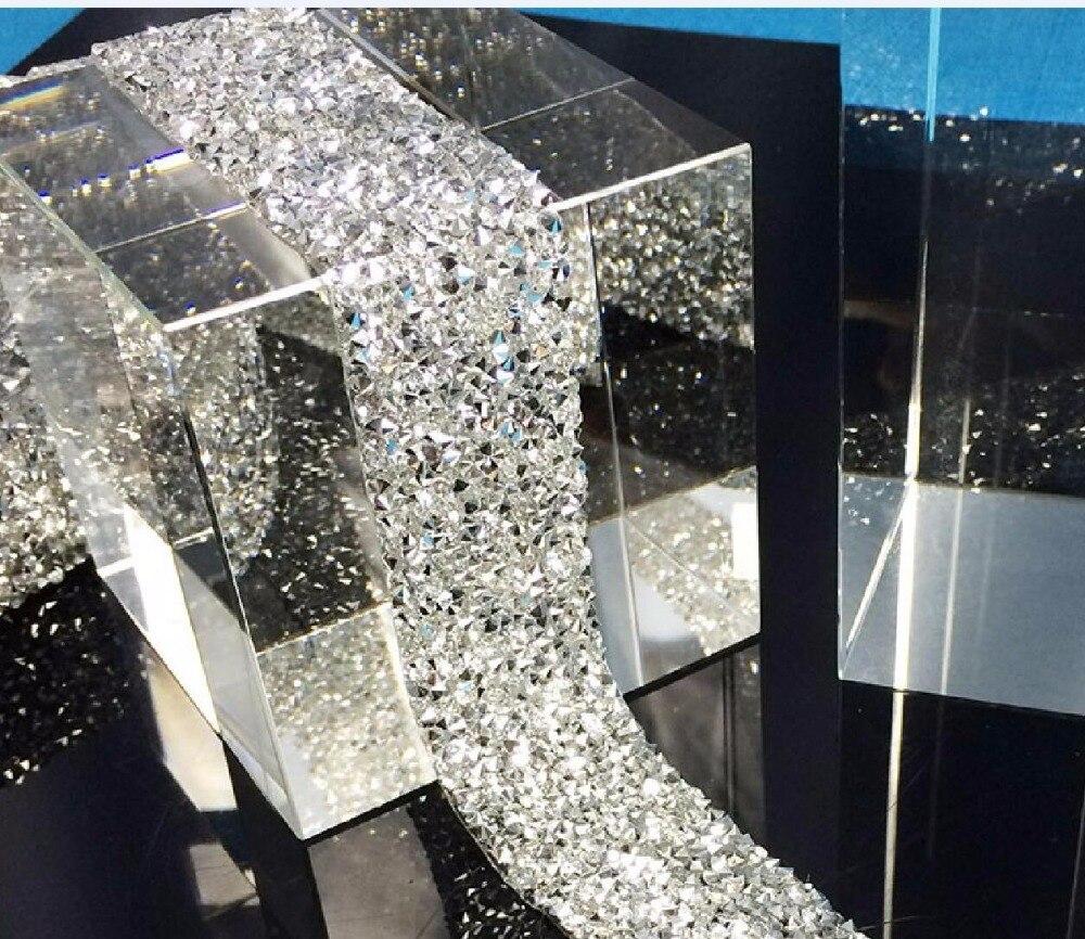 Много цветов Стразы окантовка, кристалл серебро стразы отделка окантовка, 1 ярд/партия, ширина 3 см, пояс стразы отделка DIY цепь