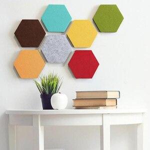 Image 5 - 10Pcs 3D Felt Hexagon Letter Message Board Photo Display DIY Art Home Office Planner Schedule Board Wall Decoration Memo Holder